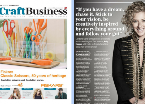 Interview with Kelly Hoppen for Craft Business magazine
