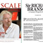 Interview with Richard Branson in Upscale Living magazine